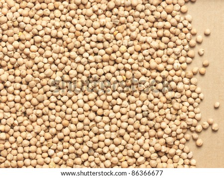 close up view background of chick peas