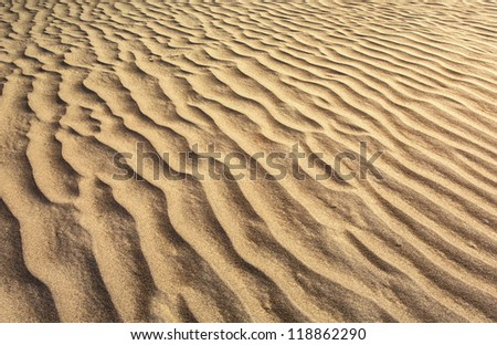 close up view beach sand - stock photo