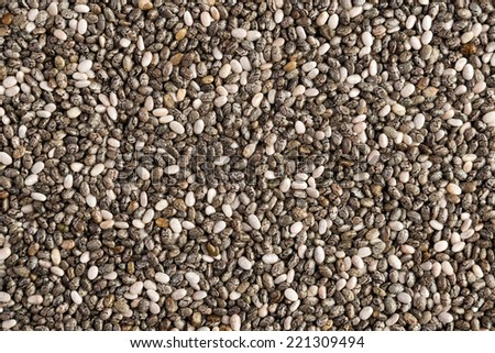 Close up view from above of Chia seeds - stock photo