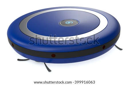 Stock vector blue robotic vacuum cleaner - Robot Cleaner Stock Images Royalty Free Images Amp Vectors