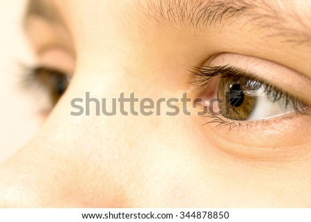 Close up view of a brown eye - no make up on