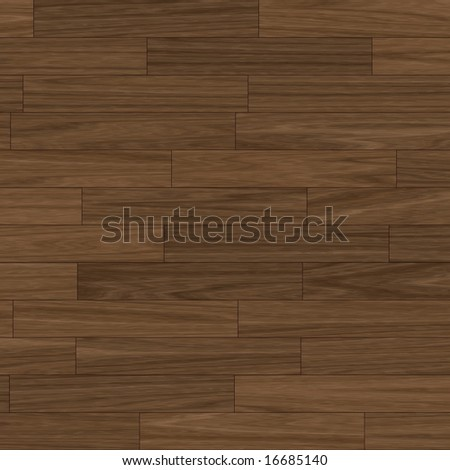 close up view of a dark brown parquet flooring (seamless tiling) - stock photo