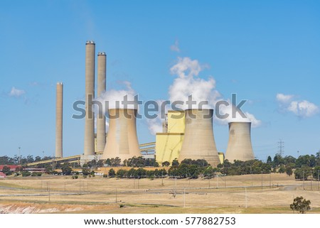 Close-up view of a huge coal-fired power station