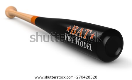 close-up view of a professional baseball bat (3d render)