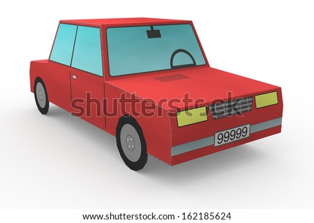 close up view of a toy car (3d render) - stock photo