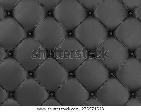 Close-up View of Black Leather Upholstery Background - stock photo