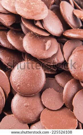 Close up view of chocolate button - stock photo