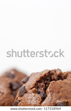 Close-up view of delicious chocolate muffins - stock photo