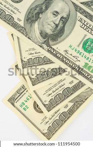 Close up view of dollar banknote - stock photo