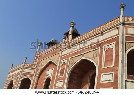 close up view of Humayun's Tomb, UNESCO World Heritage site, Delhi