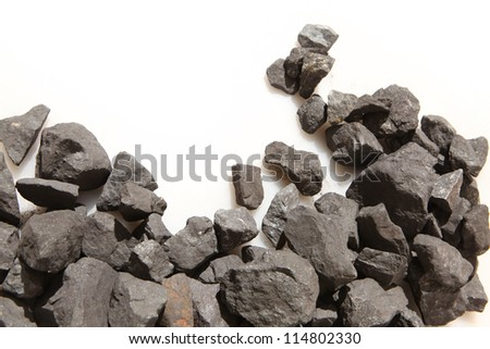 Close-up view of the iron ore - stock photo