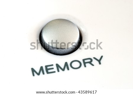 Close up view of the memory button also concept of memory problem - stock photo