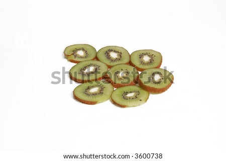 Close-up view of the of Kiwi Fruit