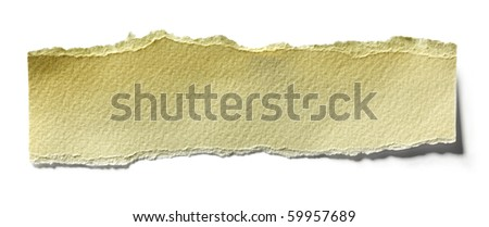 Close up view of torn piece of paper for mesage - stock photo