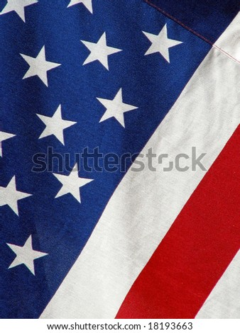 close-up view united states of America flag - stock photo