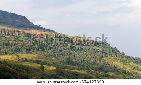 Close-up views of the mountain Thailand, most of which fall into the drought because of deforestation. - stock photo