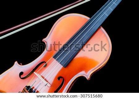close-up violin
