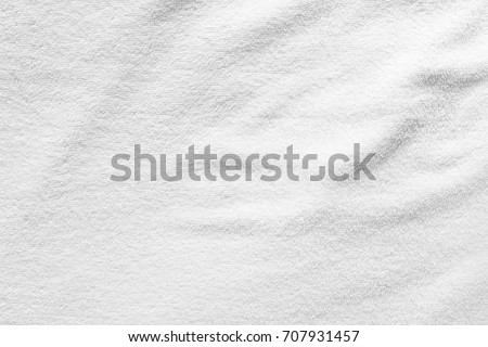Close-up white towel texture  for background.