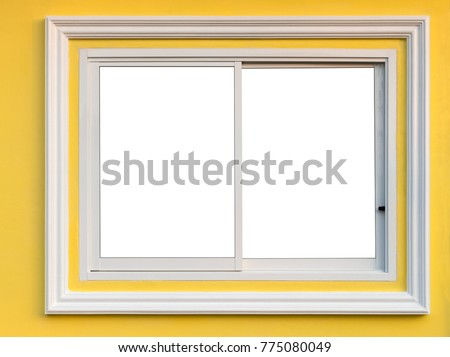 Closeup Window Background Aluminum Frame White Stock Photo (Royalty ...