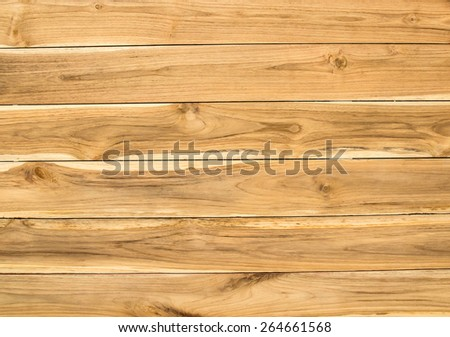 Close up wood plank brown texture background - stock photo
