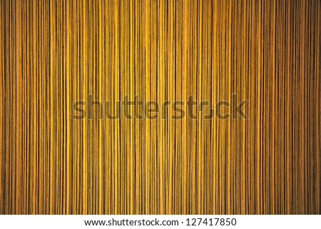 Close-up wooden HQ Zebrano Light texture to background - stock photo
