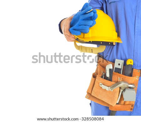 Close up Worker with tool
