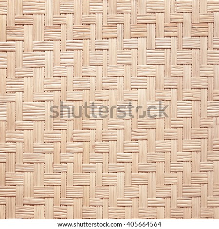 close up woven reed pattern for background - stock photo