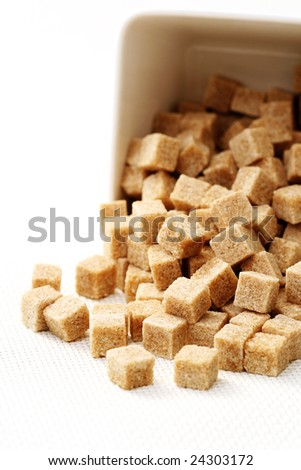 close-ups of brown sugar cubes - food and drink