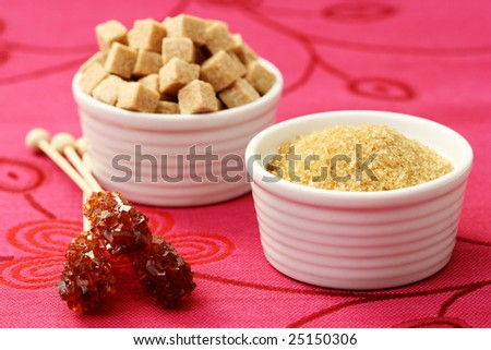 close-ups of brown sugar - food and drink