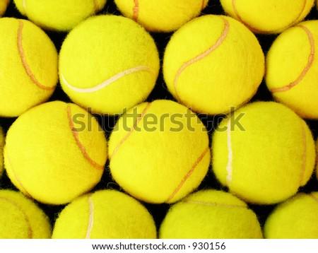 Close-ups Tennis Balls - stock photo