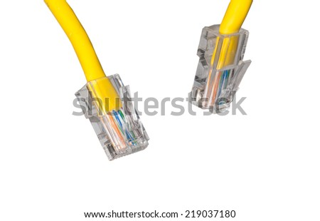 close upshot of lan cable networking