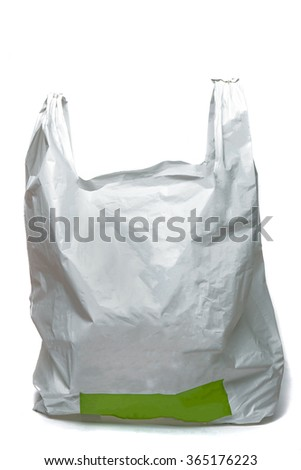 Close view of a isolated plastic bag on a white background