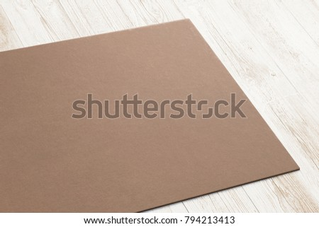 Close view carton business card on stock illustration 794213413 close view of carton business card on wooden desk 3d render template to showcase your wajeb Image collections