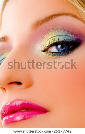 close view of fashionable woman on an isolated background - stock photo