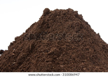 Close view of soil in a pile.