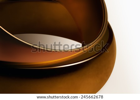Close view of two velvety rings encrusted with gold - stock photo
