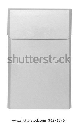 Closed blank white cigarettes pack box isolated on white. Clipping path included. Ready for your design. - stock photo
