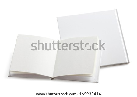 Closed book and open book - stock photo