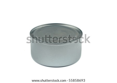 Closed can on white background - stock photo