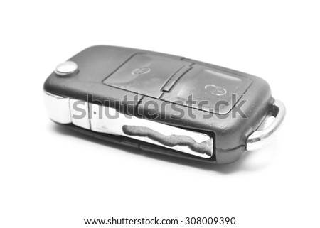 closed car key  - stock photo