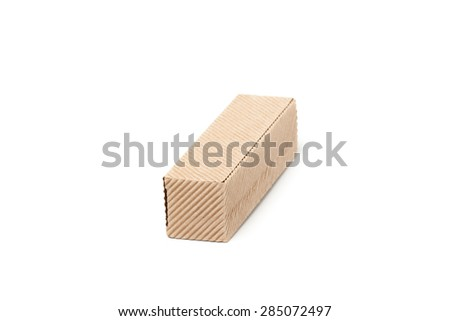 Closed Cardboard Box isolated on a White background