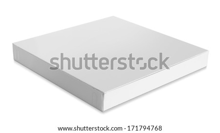 Closed cardboard box isolated over white background - stock photo