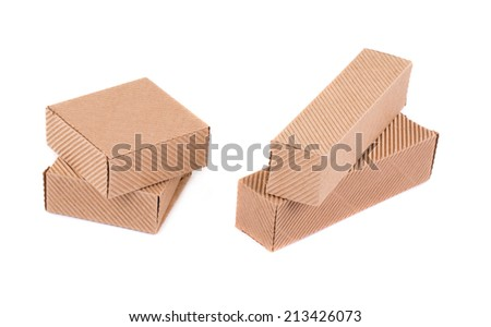 Closed cardboard boxes. Isolated on a white background.