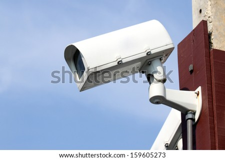 closed circuit television or CCTV