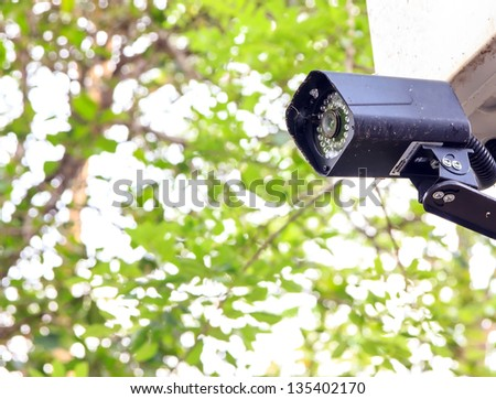 Closed circuit to save the incident. - stock photo