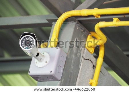closed circuit TV camera for security, electronic