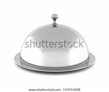 closed cloche, isolated on white background - stock photo