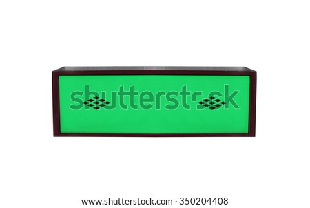 Closed Metal Locker Isolated on White Background - stock photo