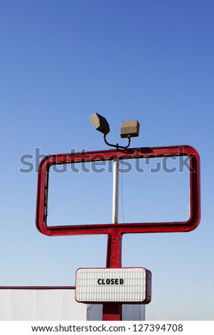 closed out of business sign - stock photo