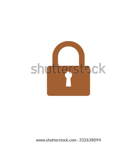 Closed padlock icon. - stock photo